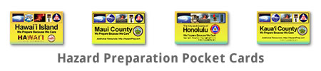 Hawaii State and County Hazard Preparation Safety Cards