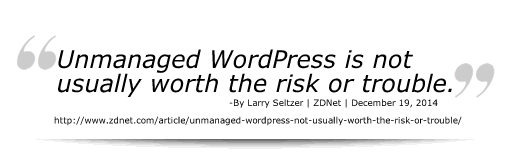 Unmanaged WordPress Risks